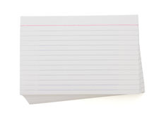 Stack of index cards Royalty Free Stock Photography
