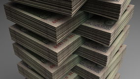 Stack of Indian Rupee Royalty Free Stock Photography