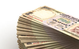 Stack of Indian Rupee Royalty Free Stock Images