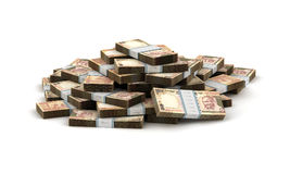 Stack of Indian Rupee. (computer generated image Royalty Free Stock Photo