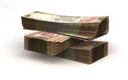 Stack of Indian Rupee Stock Image