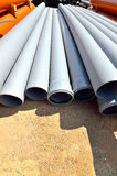 Stack of industrial pipes stock photography