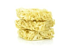 A stack of instant noodles Royalty Free Stock Image
