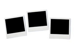 Stack of Instant photo frames, isolated on white background Stock Image