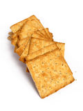 Stack of integral crackers Royalty Free Stock Photos