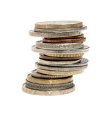 Stack of international coins Royalty Free Stock Images