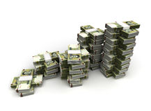 Stack of Iranian Rial Stock Photography