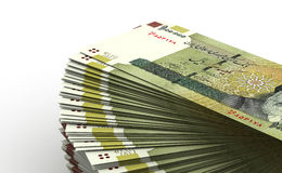 Stack of Iranian Rial Stock Photos