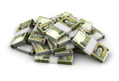 Stack of Iranian Rial. (Computer generated image Royalty Free Stock Images