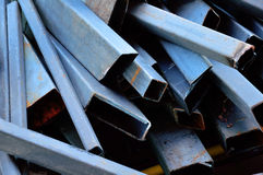 Stack of iron, construct of roof. Stack of iron,construct of roof Royalty Free Stock Photography
