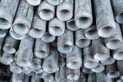 Stack of iron pipes Royalty Free Stock Image