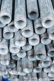 Stack of iron pipes Stock Photo