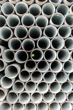 Stack of iron pipes Stock Photos