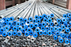Stack of iron pipes Stock Image