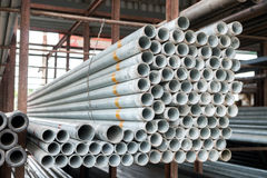 Stack of iron pipes Royalty Free Stock Photos