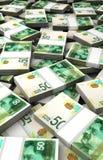Stack of Israeli New Shekels Stock Images