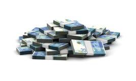 Stack of Israeli New Shekels Royalty Free Stock Photography