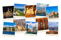 Stack of Istanbul Turkey travel images Stock Photography