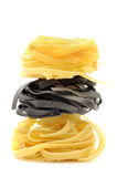 Stack of italian pasta tagliatelle Royalty Free Stock Photography