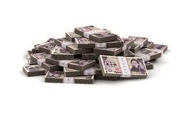 Stack of Japanese Yen Royalty Free Stock Photos