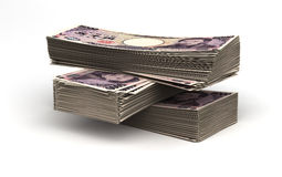 Stack of Japanese Yen Stock Photography