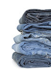 Stack of jeans Stock Photography