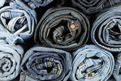 Stack of Jeans Stock Photos