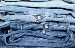 Stack of jeans. With a gradient color Stock Photography