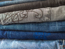 Stack of jeans Stock Images