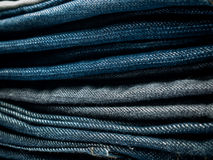 Stack of jeans Background. Stack of jeans for Background Stock Photography