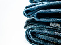 Stack of jeans for Background. Stack of jeans Background and copy space Stock Photography