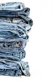 Stack of jeans background Stock Images