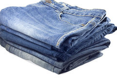 Stack of jeans. Royalty Free Stock Images