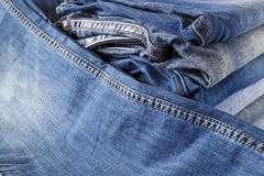 Stack of jeans Royalty Free Stock Photography