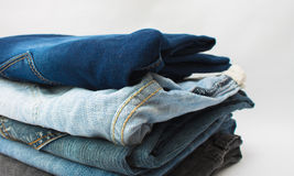 Stack of jeans Stock Image
