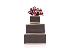 Stack of Jewelry Boxes Stock Photo