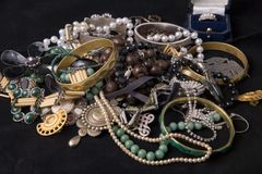Stack of jewels Stock Photography