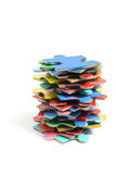 Stack of Jigsaw Puzzle Pieces royalty free stock photos