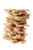 Stack of Jigsaw Puzzle Pieces Stock Image