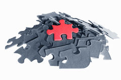 Stack of jigzaw puzzle pieces Royalty Free Stock Image