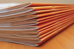 Stack of journals Royalty Free Stock Photo