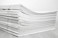 Stack journals Royalty Free Stock Photography
