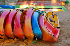 Stack of Kayaks Royalty Free Stock Photo