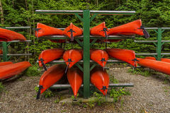 Stack of Kayaks Stock Photo