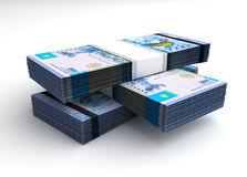 Stack of Kazakh Tenge. (Computer generated image Stock Photography