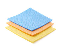 Stack of kitchen cleaning napkin rags over white isolated background Royalty Free Stock Image