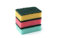 Stack of Kitchen Sponges Royalty Free Stock Photography