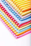 Stack of kitchen towels Royalty Free Stock Photos