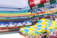 Stack of kitchen towels Stock Photography