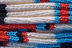 Stack of  knitted closeup Royalty Free Stock Photography